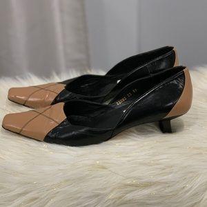 Sachs London 🛩 two tone brown black shoes 8.5